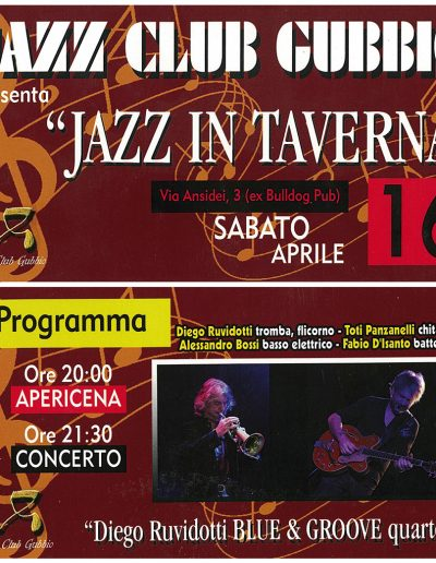 Jazz in Taverna 16/04