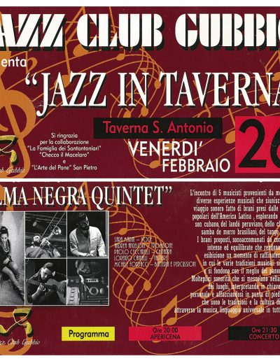 Jazz in Taverna 26/02